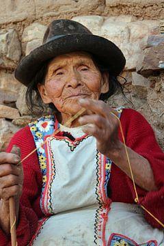 Boliviaanse vrouw van Marieke Funke
