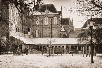 Mariaplaats in de sneeuw von Jan van der Knaap