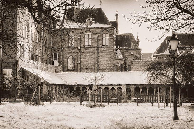 Mariaplaats in de sneeuw van Jan van der Knaap