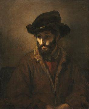 Ein bärtiger Mann mit Hut, Atelier von Rembrandt van Rijn