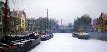 Kolksluis Delfshaven sur Frans Jonker