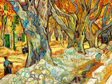 Die großen Bäume in Saint-Rémy - Vincent van Gogh - 1889 von Jan Willem van Doesburg