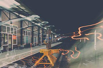 Creatieve foto van treinstation Kampen van Fotografiecor .nl