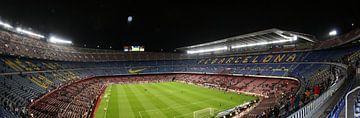 Panorama Camp Nou 1 van Nathalie van der Klei