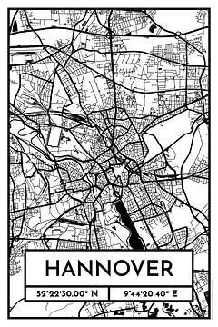 Hannover - Stadsplattegrondontwerp Stadsplattegrond (Retro) van ViaMapia