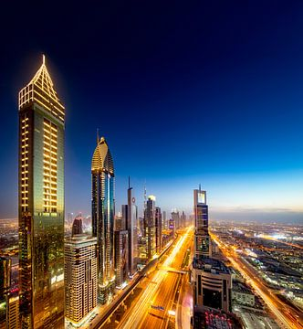 Goud en blauw in Dubai van Rene Siebring