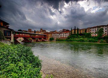 Ponte Vecchio in Bassano del Grappa van
