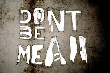 Abstract - Don't be mean van Veerle Van den Langenbergh