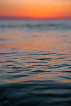 Zonsondergang zee Domburg