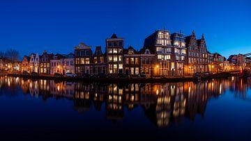 Panorama van het Spaarne in Haarlem - Maart 02