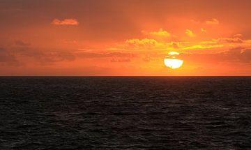 Coucher de soleil dans Zoutelande sur MSP Canvas