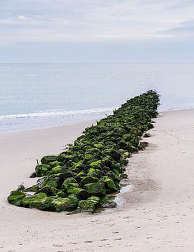 Frankrijk, Berk: Brise-lames et la plage panorama sur Steve Van Hoyweghen