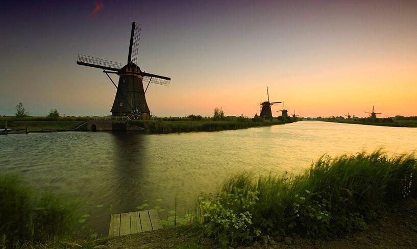 Les moulins à vent de Kinderdijk sur Frank Herrmann