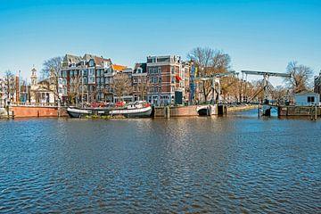 Stadtbild von Amsterdam an der Amstel von Nisangha Masselink