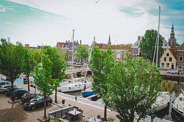Noorderhaven in Harlingen, Friesland van Daphne Groeneveld