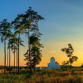Radio Kootwijk zonsondergang van Han Kedde