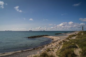 Golfbrekers bij Skagen Denemarken van Tina Linssen