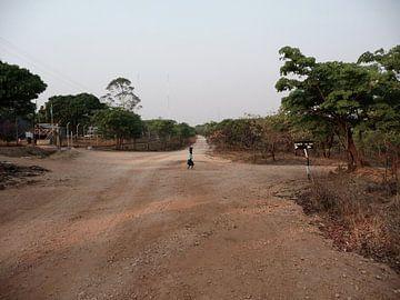 'Op de kruising', Makuti- Zimbabwe van Martine Joanne