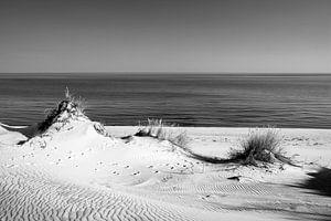Dünen und das Meer II, schwarz weiß