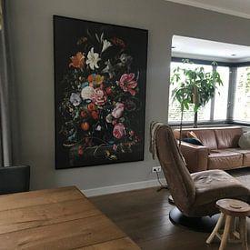 Photo de nos clients: Stilleven met bloemen in een vaas sur Diverse Meesters, sur toile