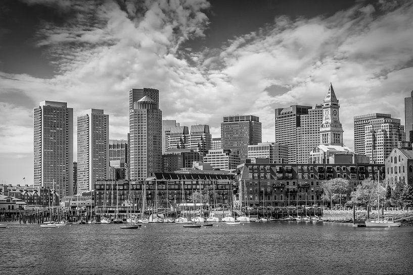 BOSTON Skyline North End & Financial District | Monochrome sur Melanie Viola