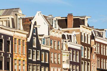 Maisons dans le Prinsengracht à Amsterdam sur Werner Dieterich