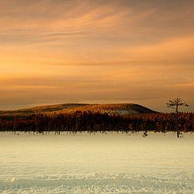 paysage enneigé en Suède sur Ed Klungers