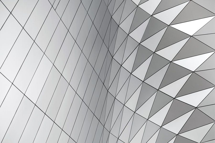 Abstrakte geometrische Formen des Musters von Origami Art