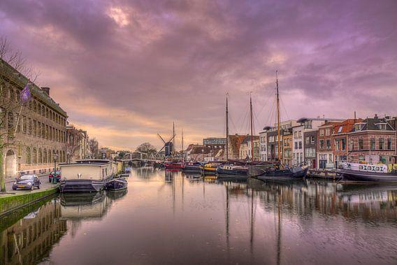 Galgewater in Leiden van Jan Siebring