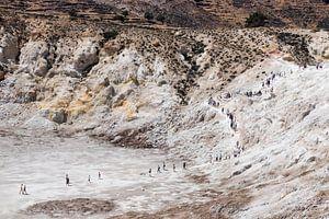 Tocht naar de Stefanos Krater