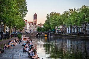 Een prachtige lenteavond in Utrecht van