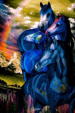 Toren van de blauwe paarden van Ansgar Peter