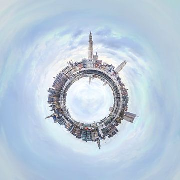 Antwerpen  Scheldekaaien panorama Tiny Planet van Maarten Visser