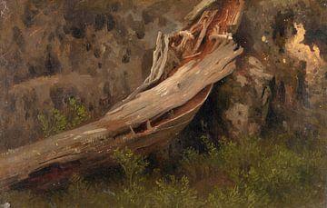August Capping~Studie eines verfallenen Stammes