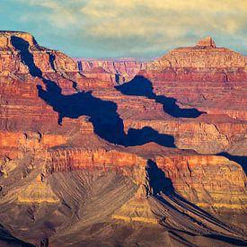 Prachtig avondlicht over de Grand Canyon, VS van Rietje Bulthuis