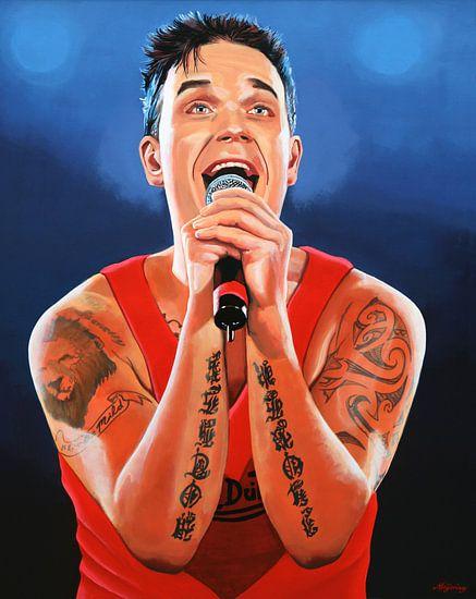 Robbie Williams Schilderij 2 van Paul Meijering