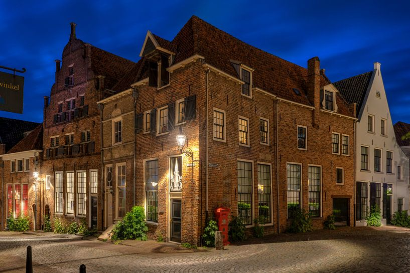 Hoek Bergstraat Bergkerkplein Deventer van Fotografie Ronald