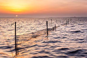 Zonsopkomst boven het Lauwersmeer van