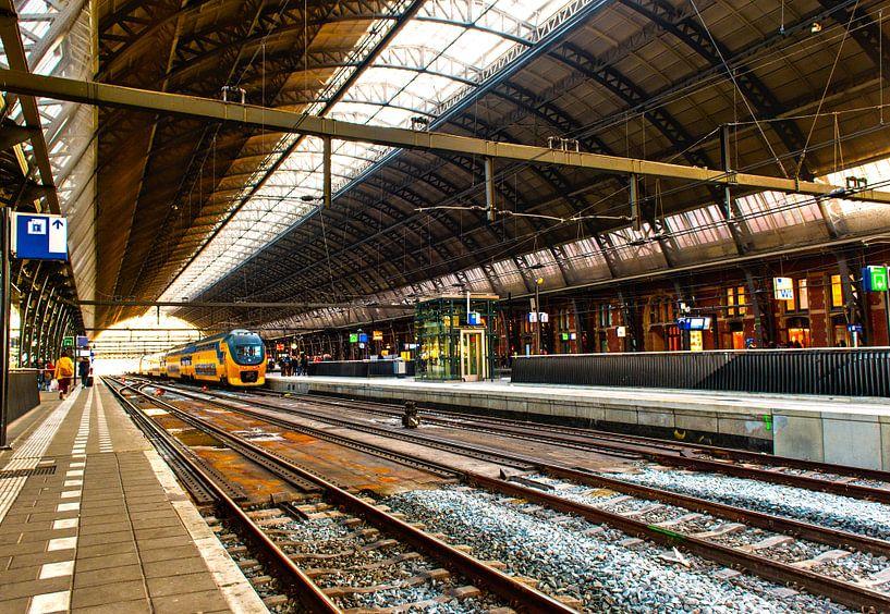 Amsterdam Central Station van Brian Morgan