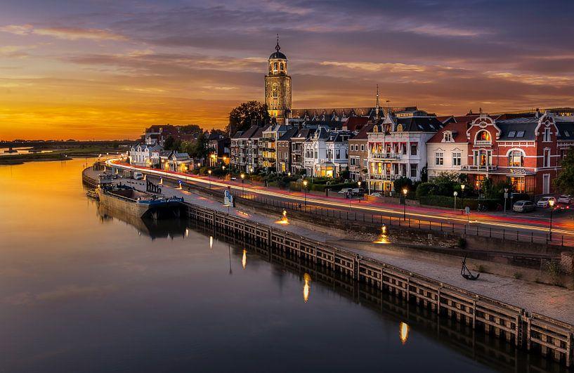 Zonsondergang in Deventer van Patrick Rodink