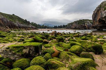 Playa de Cuevas del Mar in Asturien von Easycopters
