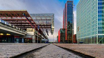 Almere station en WTC van Arjan Schalken