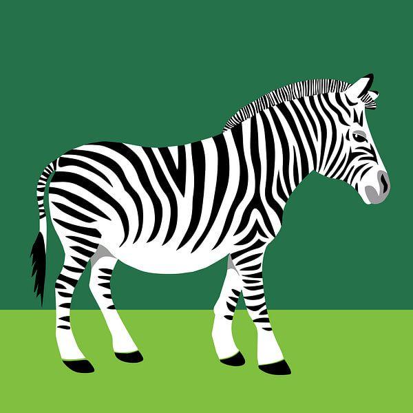 Zebra van Studio Mattie