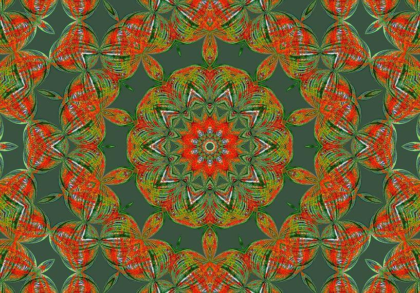 Rosetta in Grün (Mandala in Grün) von Caroline Lichthart
