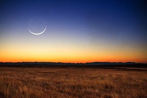 Nieuwe maan landschap van