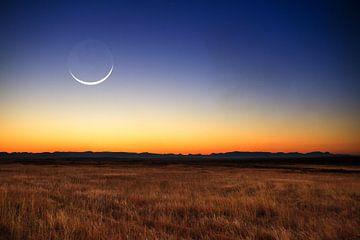 Nieuwe maan landschap sur Dennis van de Water