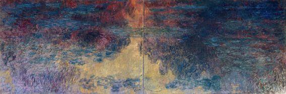 De waterlelievijver in de avond, Claude Monet...