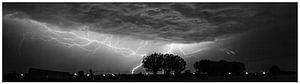 Lightning by night