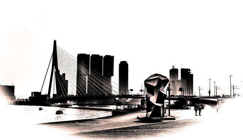 Silhouet Erasmusbrug van Henry van Schijndel