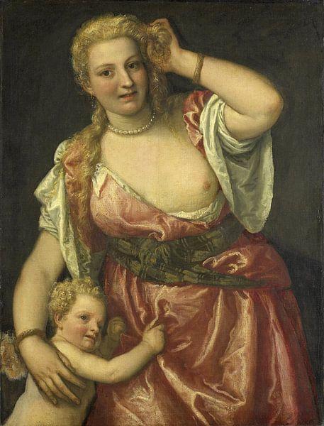 Venus en Amor, Paolo Veronese van Meesterlijcke Meesters